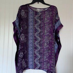 Swimsuit Purple Cover Up size L